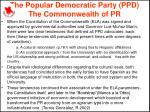 the popular democratic party ppd the commonwealth of pr