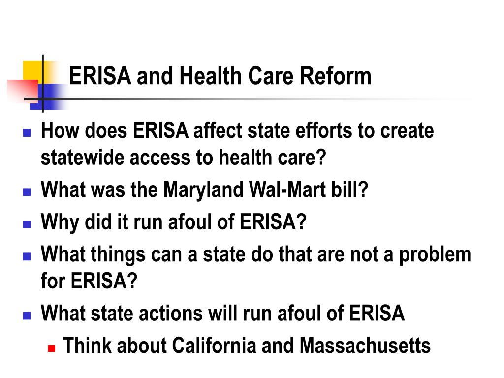 ERISA and Health Care Reform