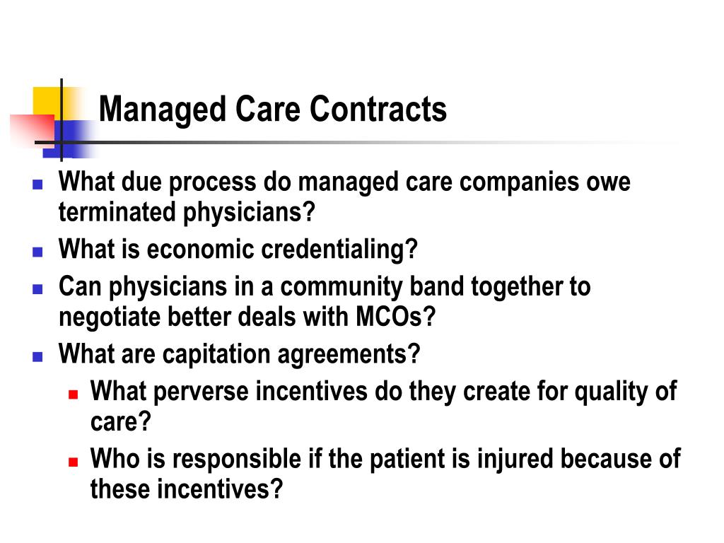 Managed Care Contracts