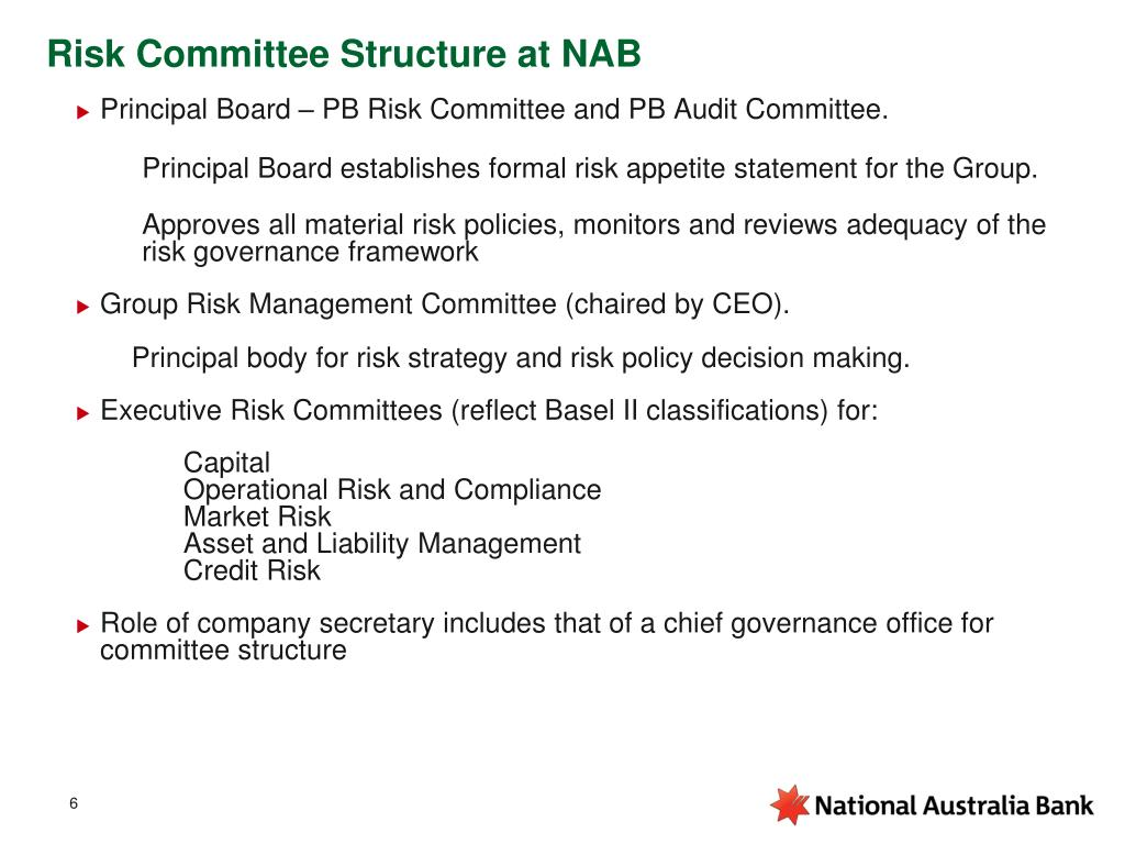 Risk Committee Structure at NAB