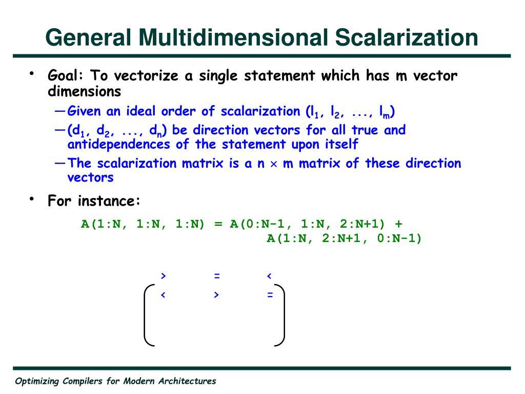 General Multidimensional Scalarization
