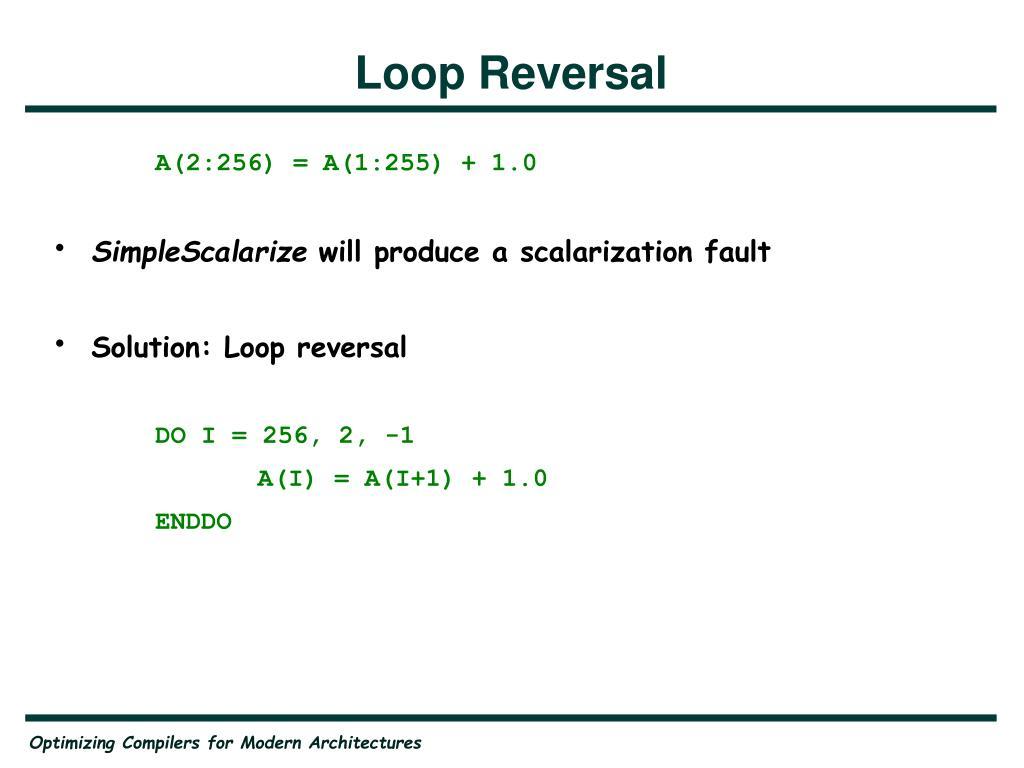 Loop Reversal