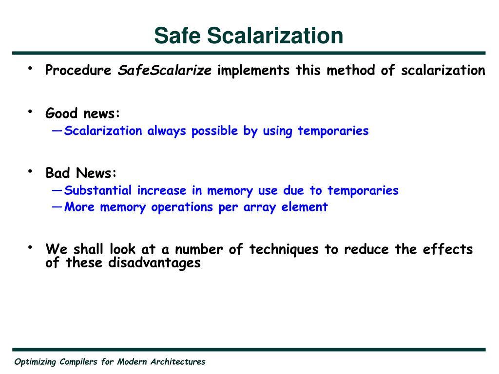 Safe Scalarization