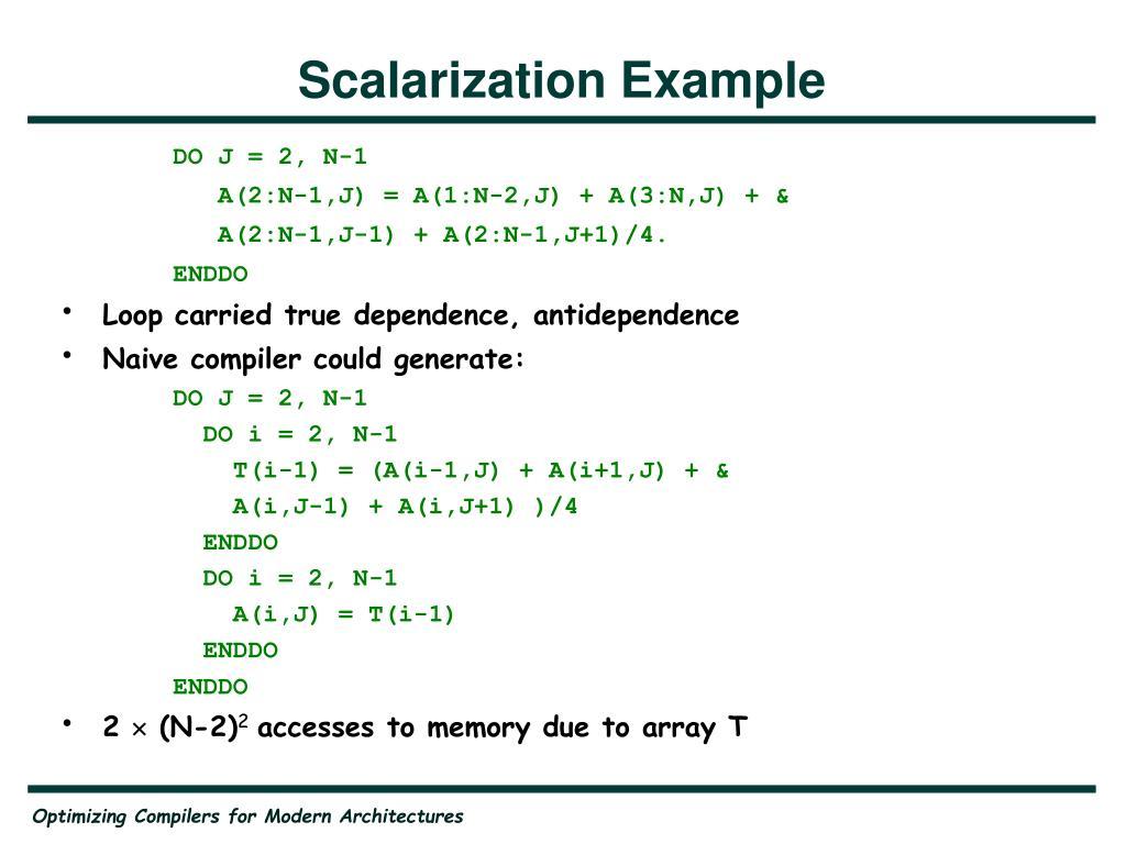 Scalarization Example