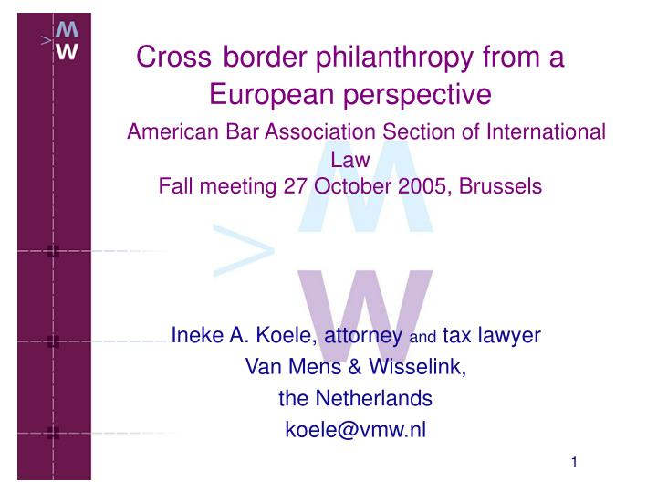 Ineke a koele attorney and tax lawyer van mens wisselink the netherlands koele@vmw nl