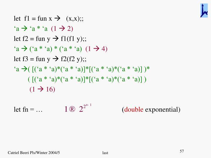 let  f1 = fun x
