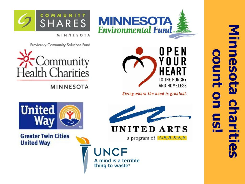 Minnesota charities count on us!
