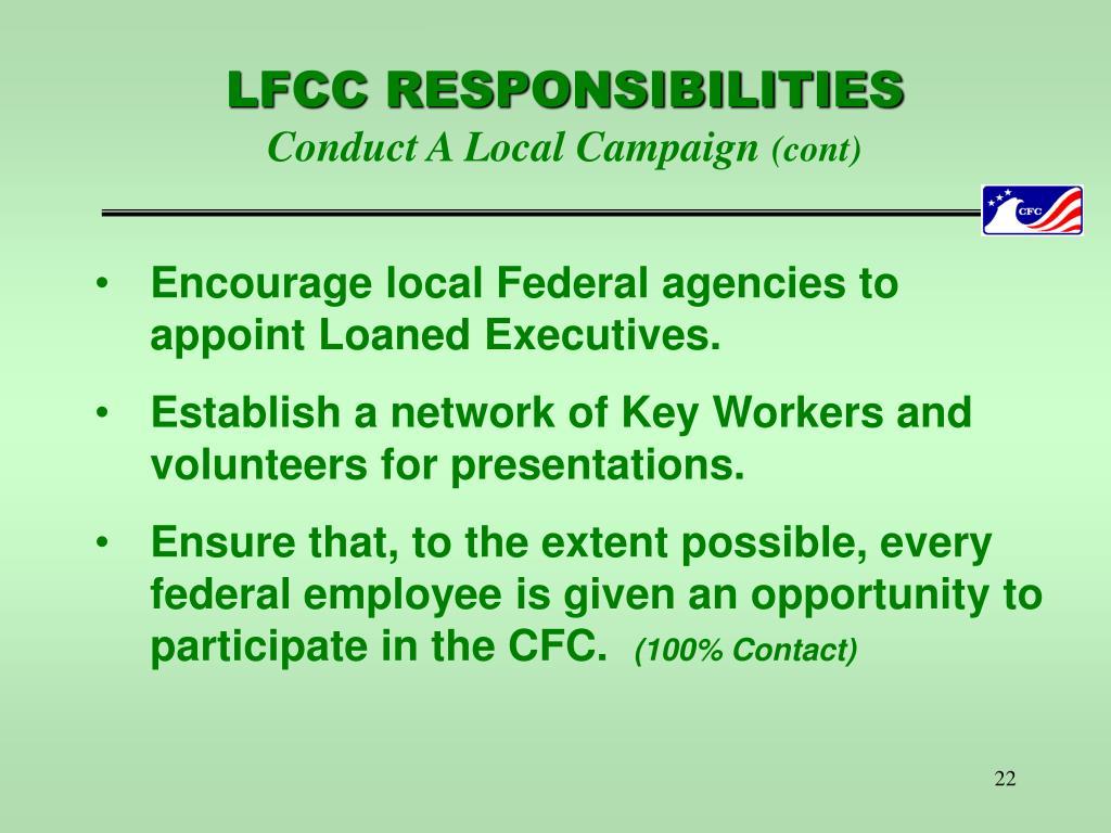 LFCC RESPONSIBILITIES