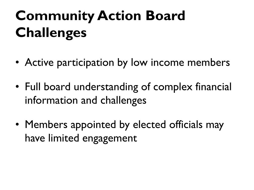 Community Action Board Challenges