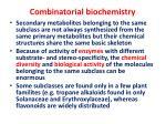 combinatorial biochemistry