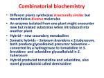 combinatorial biochemistry27