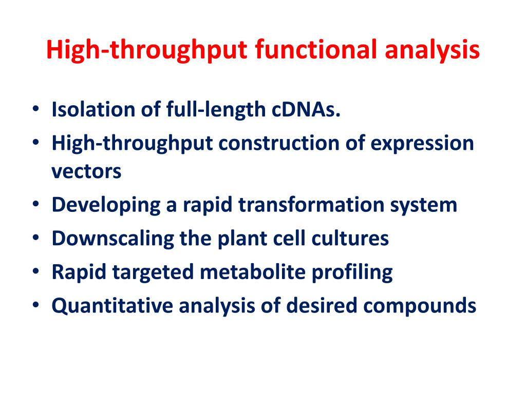 High-throughput functional analysis