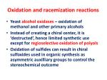 oxidation and racemization reactions