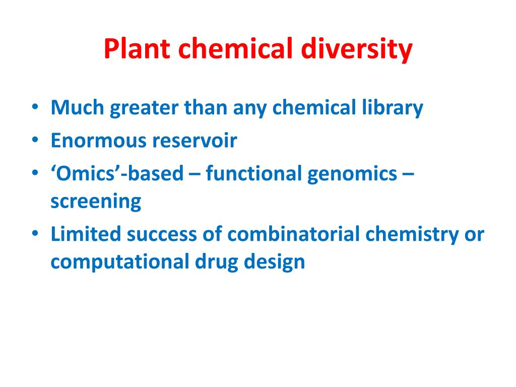 Plant chemical diversity