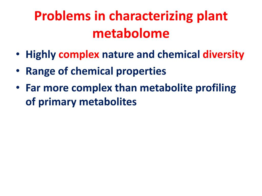 Problems in characterizing plant