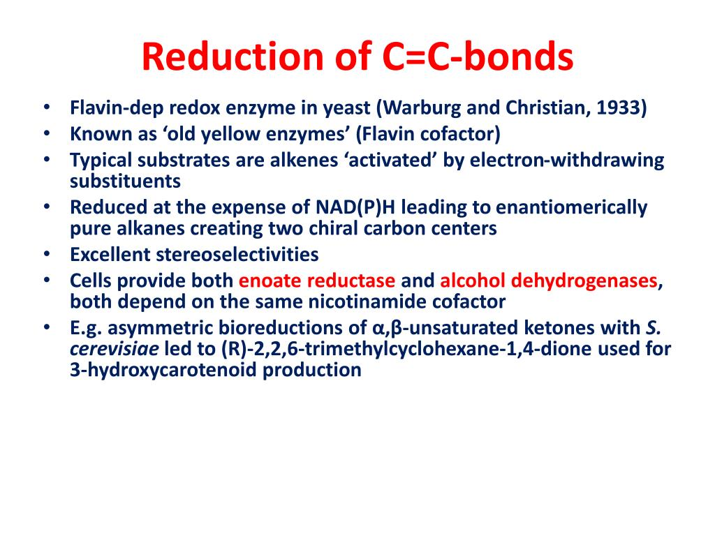 Reduction of C=C-bonds