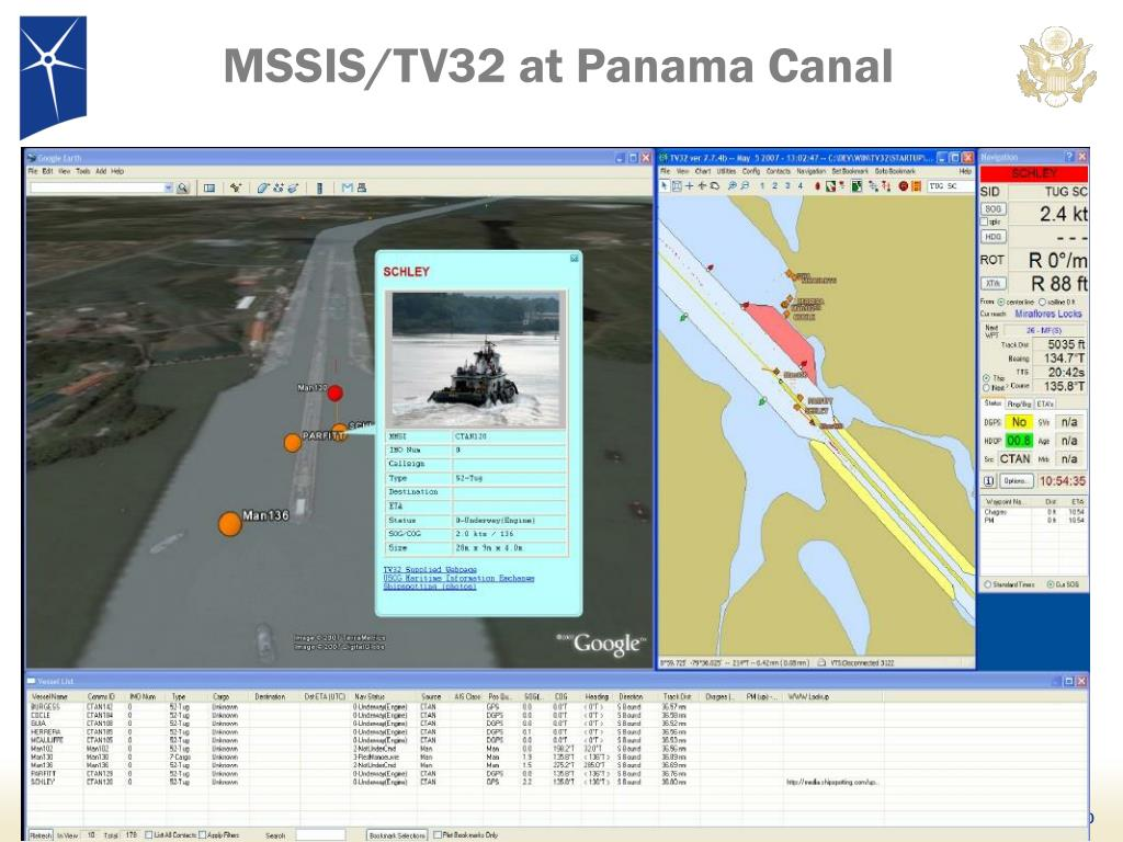 MSSIS/TV32 at Panama Canal
