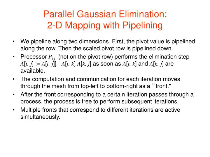 Parallel Gaussian Elimination: