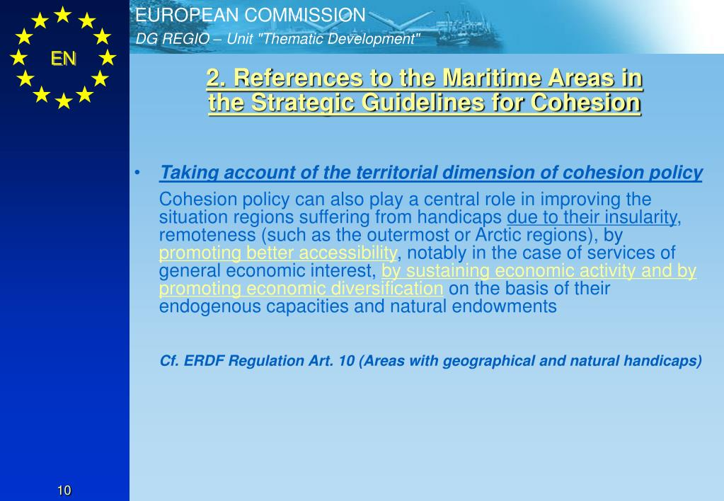 2. References to the Maritime Areas in