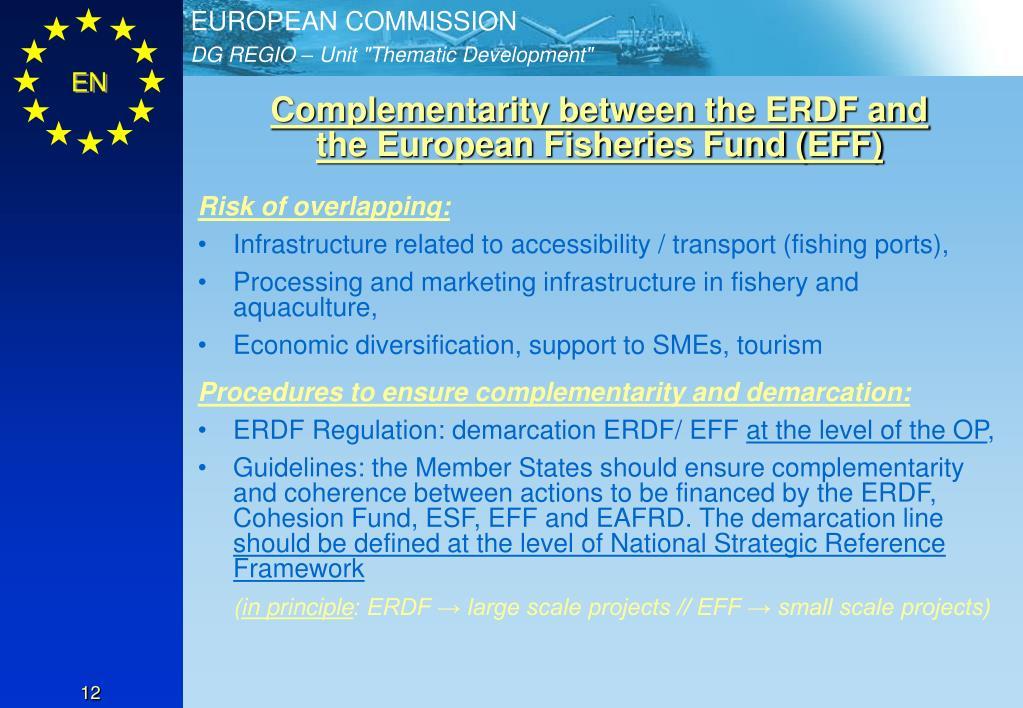 Complementarity between the ERDF and