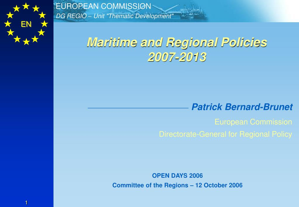 Maritime and Regional Policies