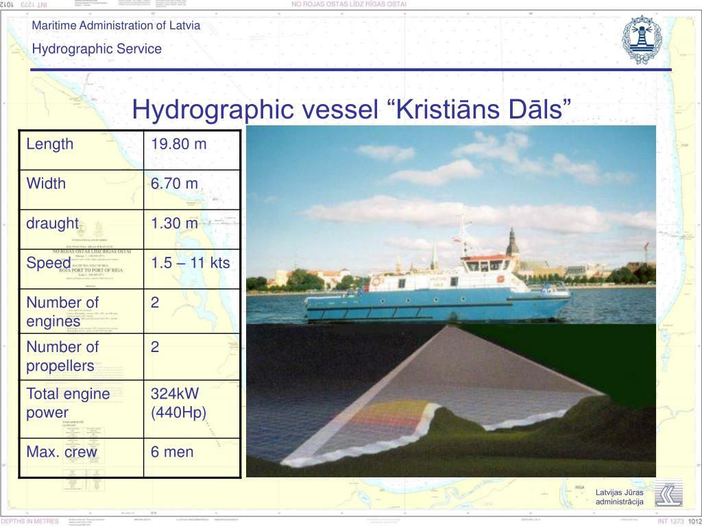 """Hydrographic vessel """"Kristiāns Dāls"""""""