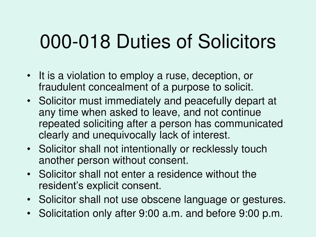 000-018 Duties of Solicitors