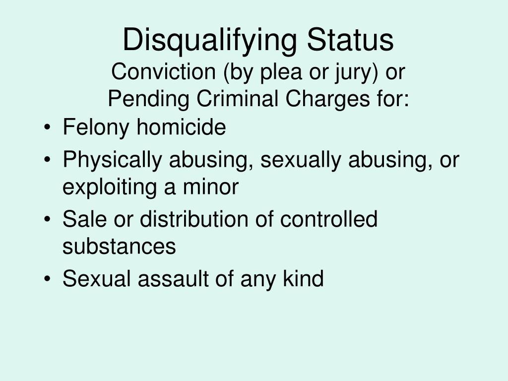 Disqualifying Status