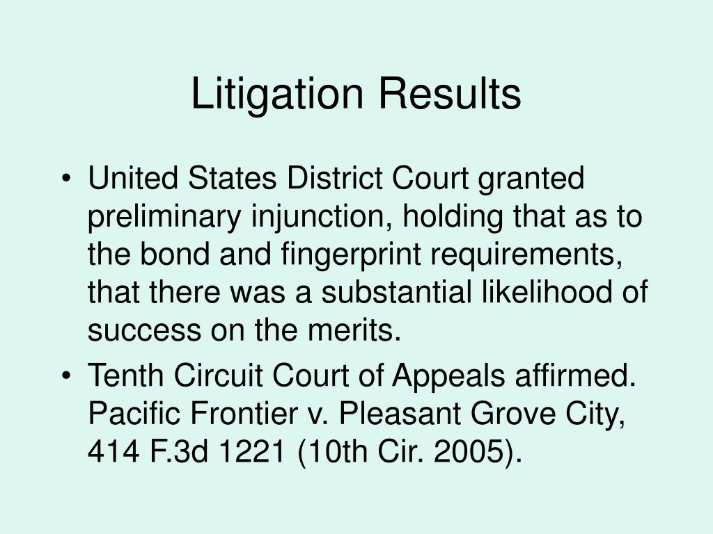 Litigation Results