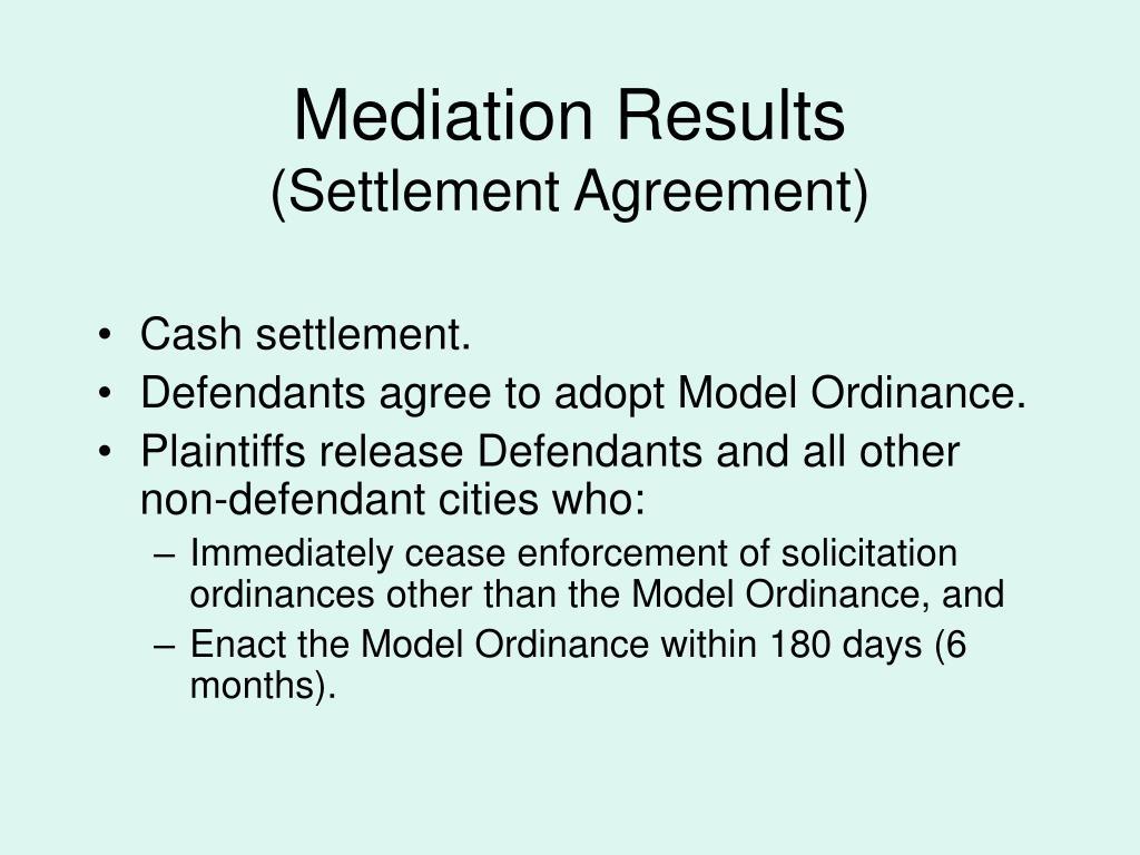 Mediation Results