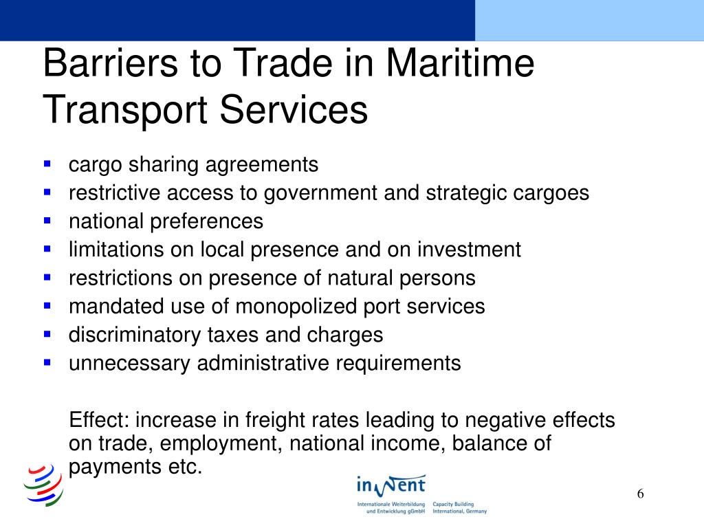 Barriers to Trade in Maritime Transport Services