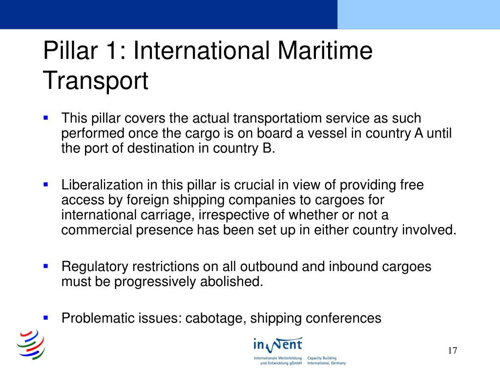 Pillar 1: International Maritime Transport