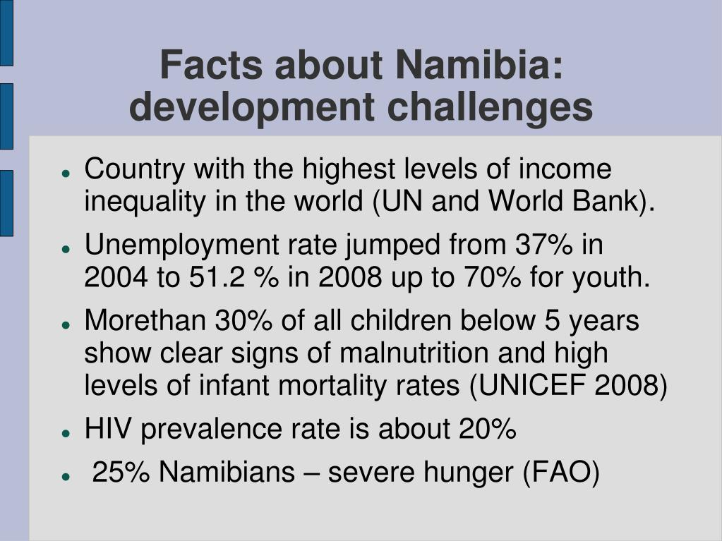 Facts about Namibia: development challenges