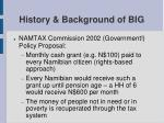 history background of big