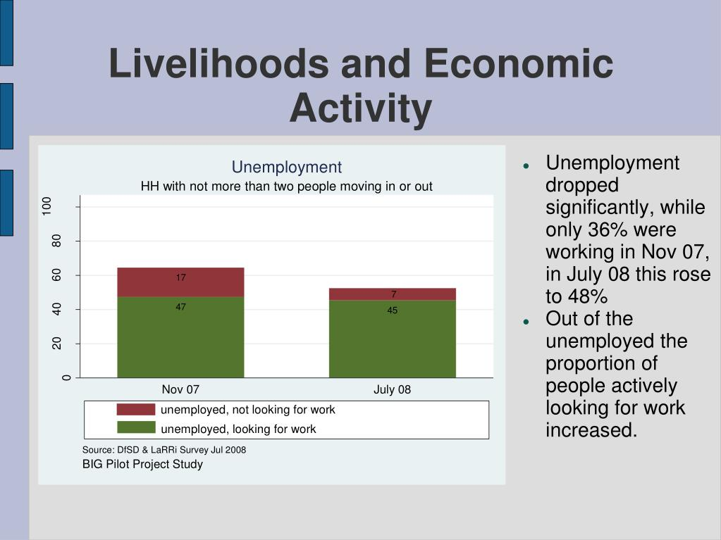 Livelihoods and Economic Activity