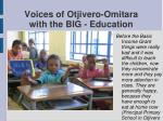 voices of otjivero omitara with the big education