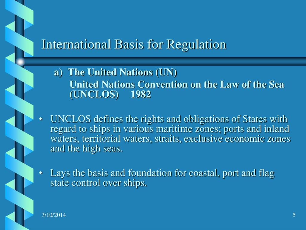 International Basis for Regulation