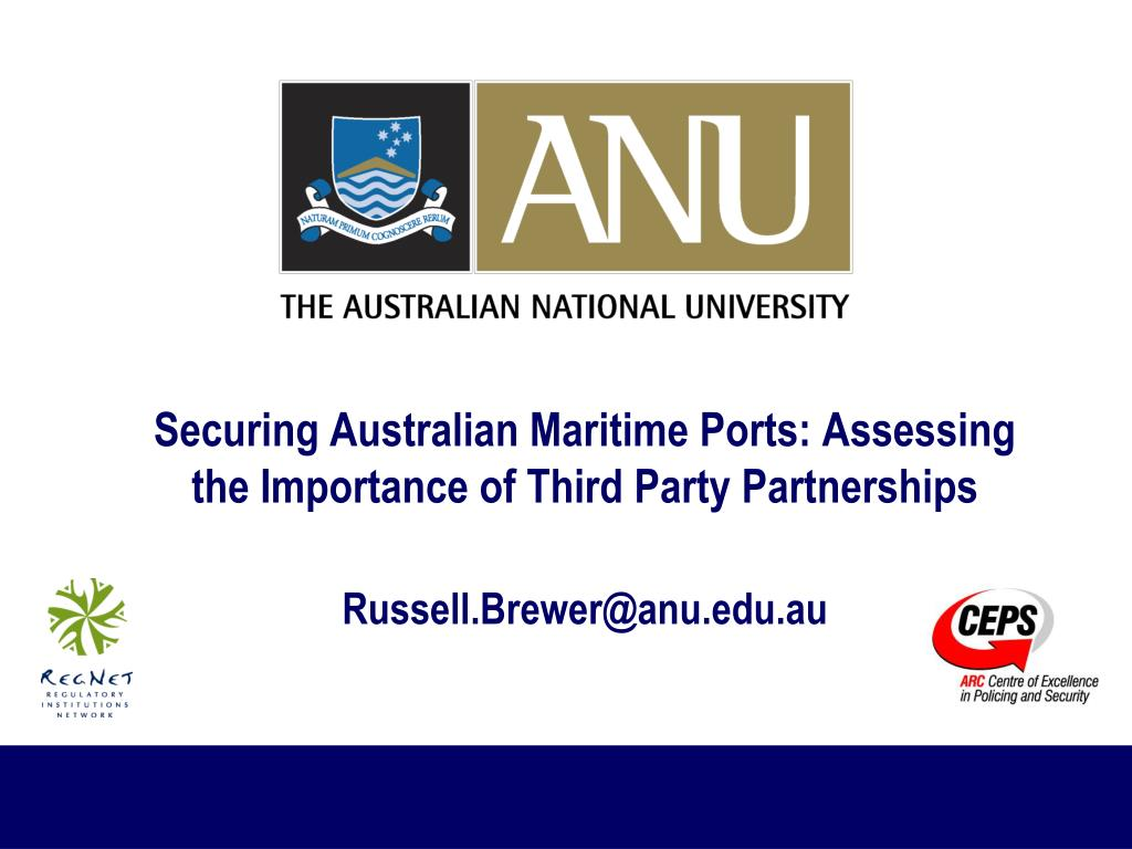Securing Australian Maritime Ports: Assessing the Importance of Third Party Partnerships