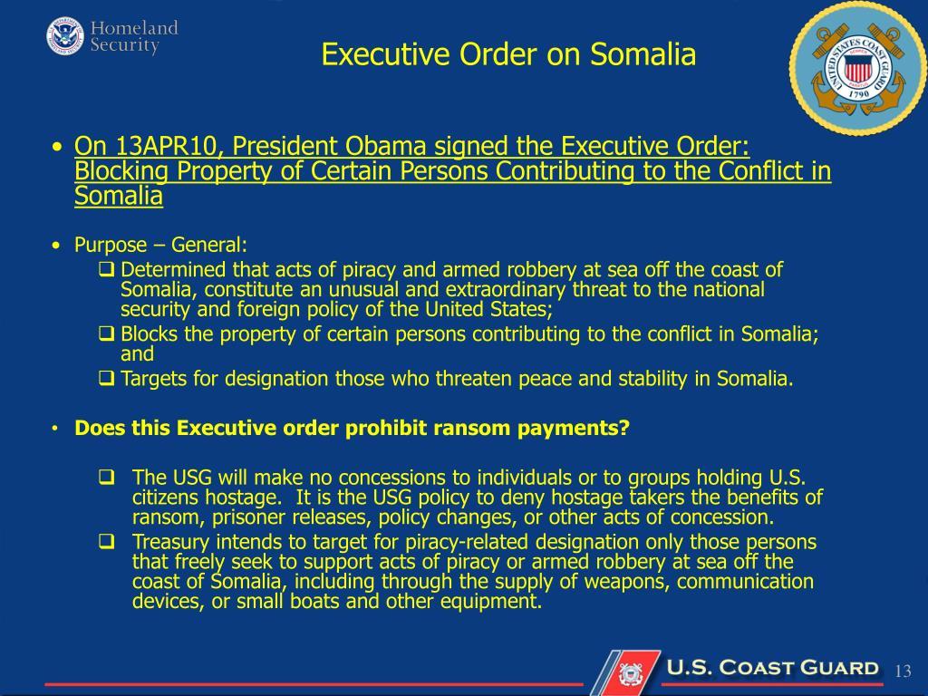 Executive Order on Somalia