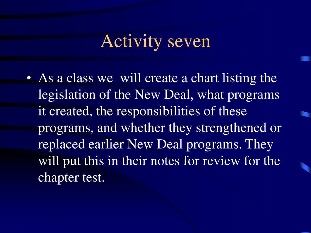 Activity seven