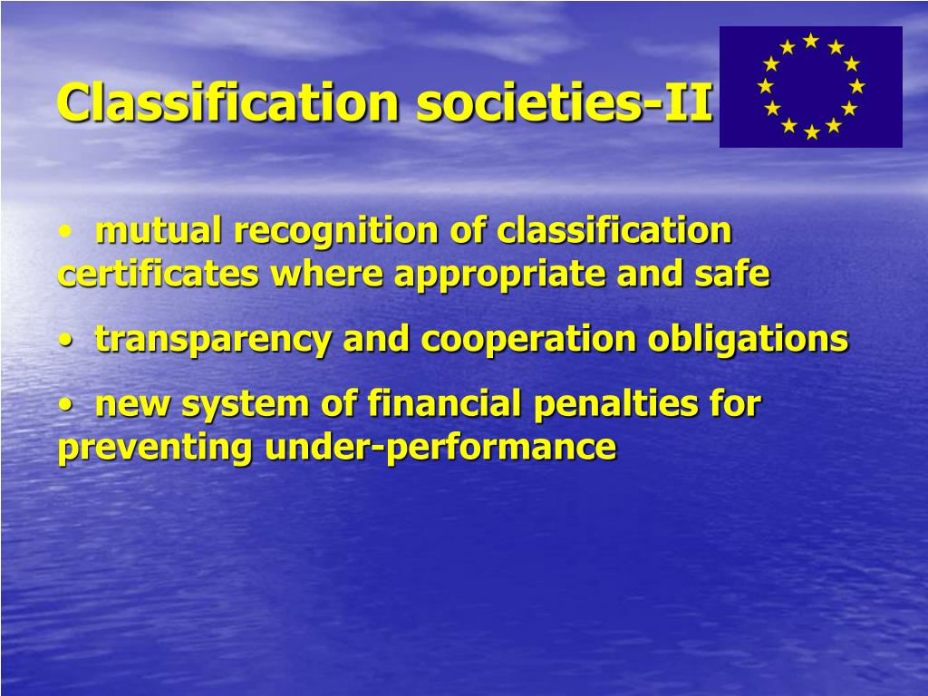 Classification societies-II