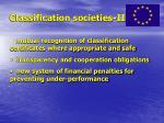 classification societies ii