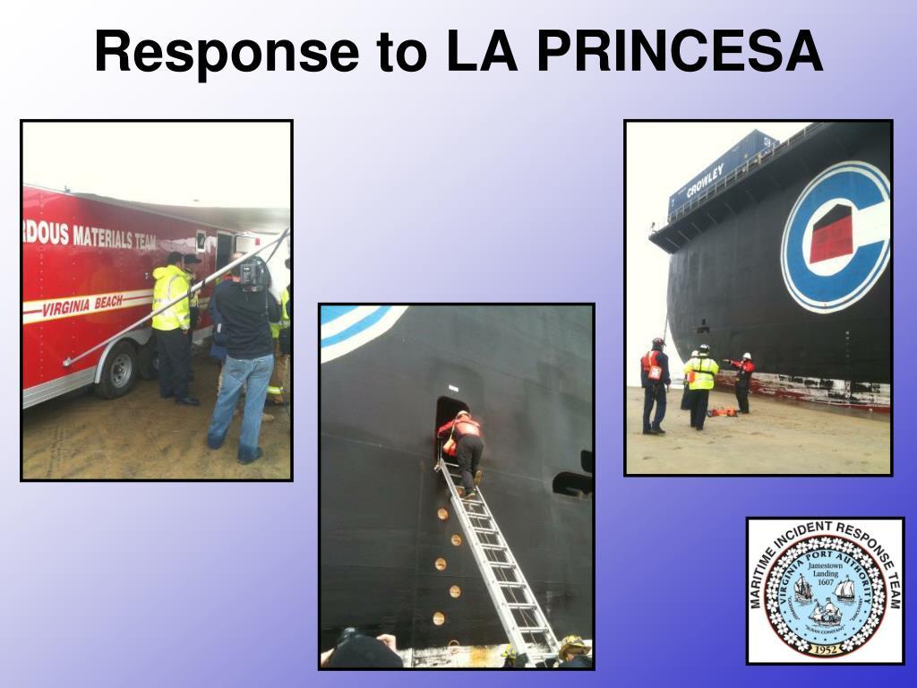 Response to LA PRINCESA