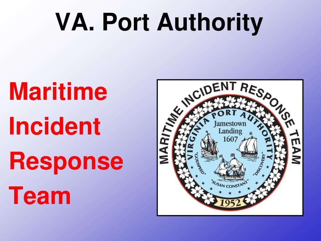 va port authority maritime incident response team