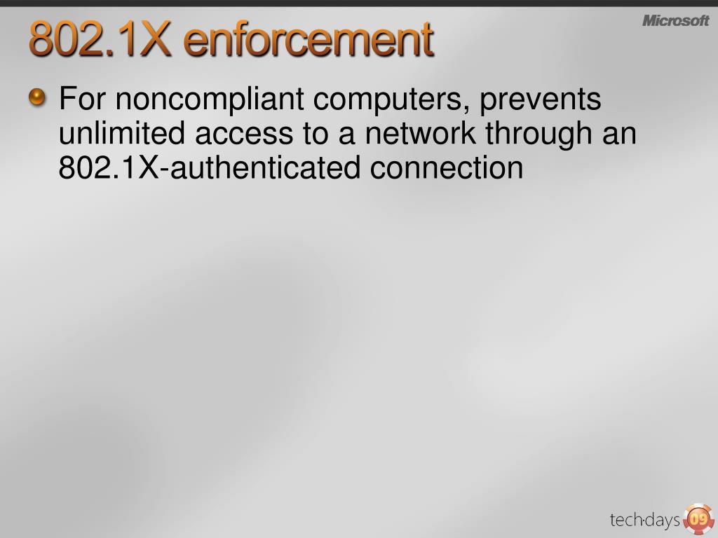 802.1X enforcement
