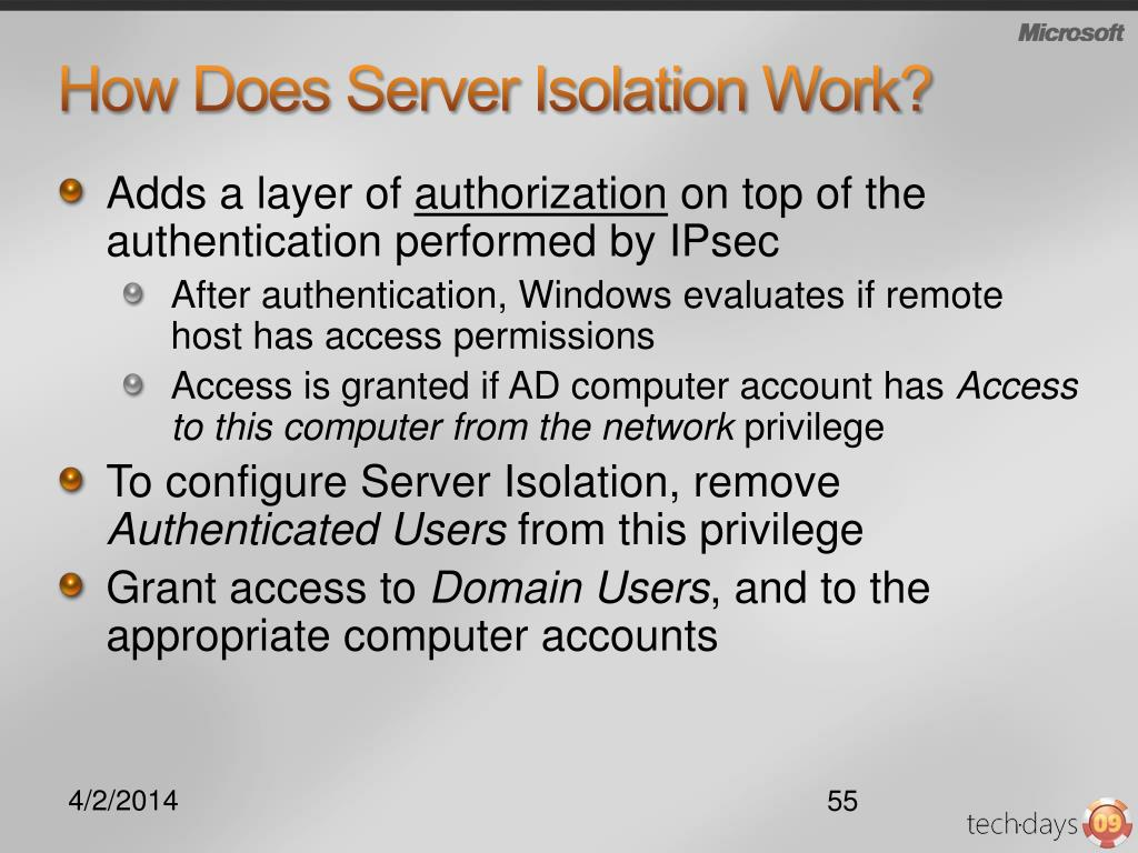 How Does Server Isolation Work?