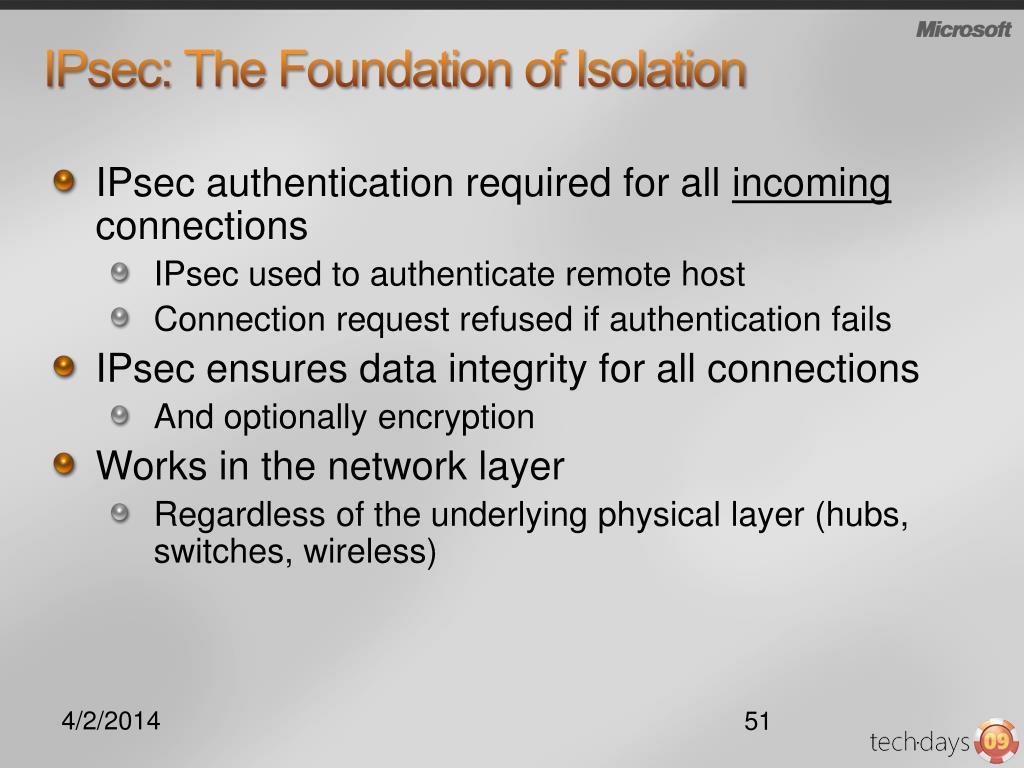 IPsec: The Foundation of Isolation