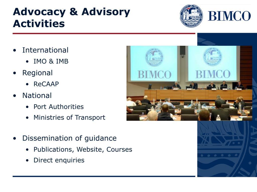Advocacy & Advisory Activities
