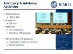 advocacy advisory activities