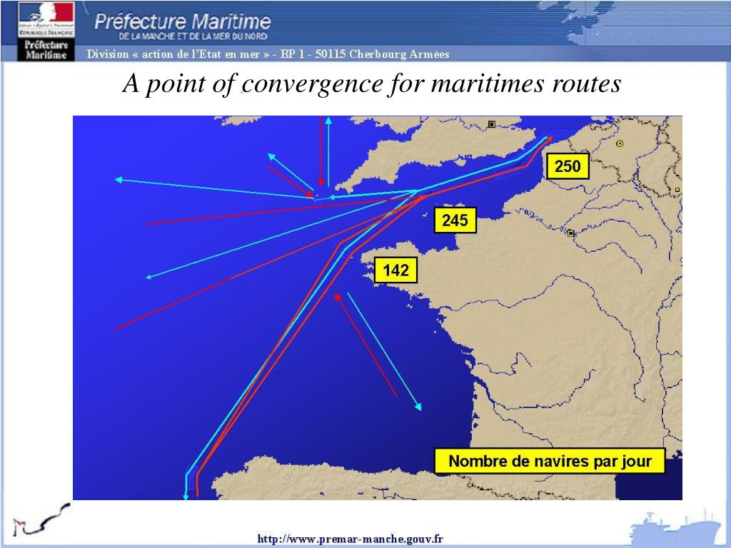 A point of convergence for maritimes routes